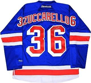 Mats Zuccarello Signed New York Rangers Blue Jersey - Steiner Sports Certified - Autographed NHL Jerseys