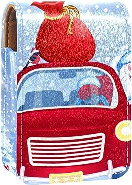 Travel Portable Lipstick Organizer,christmas tree santa red car bag