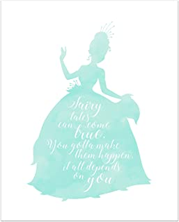 Summit Designs Tiana Disney Princess Inspirational Quote - Photo Print (8x10) Poster - The Princess and The Frog