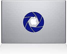 """The Decal Guru 2056-MAC-12M-DB Camera Shutter Decal Vinyl Sticker, Dark Blue, 12\"""" MacBook"""