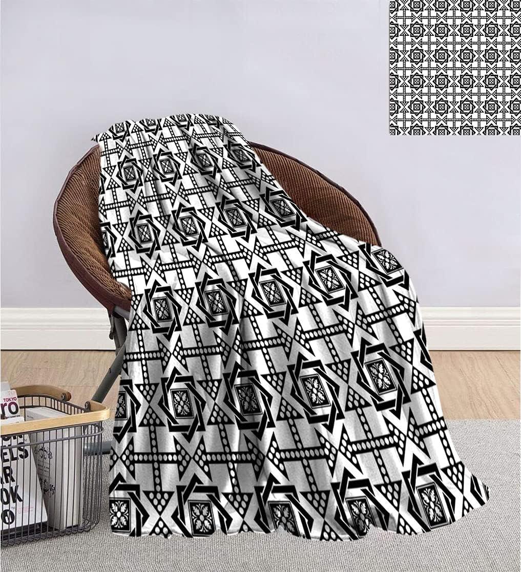 Black and Spasm price White Microfiber Blanket lowest price Pattern Arro with Star Celtic