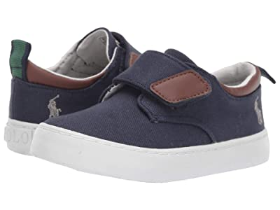 Polo Ralph Lauren Kids Charter EZ (Toddler) (Navy Canvas/Grey Pony) Boy