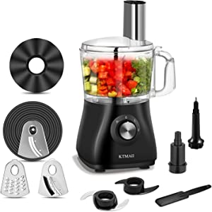 Food Processor,5 Cup Food Processor Vegetable Chopper for Chopping, Pureeing, Mixing, Shredding and Slicing,With 2 Variable Speeds Plus Pulse, 500 Watt, Safety Interlocking Design