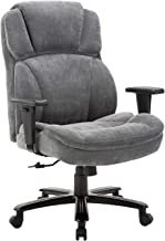 CLATINA Ergonomic Big and Tall Executive Office Chair with Upholstered Swivel 400lbs High Capacity Adjustable Height Thick...