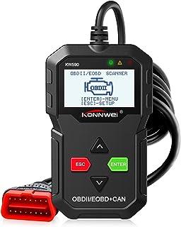 ماسح ضوئي McDou OBD2 ، قارئ رمز السيارة KW590 مع قارئ ضوئي لمحرك عالمي معزز من الفئة الأولى، يمكن تشخيص أداة المسح الضوئي ...