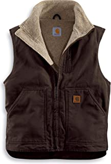 Men's Sherpa-Lined Mock-Neck Vest