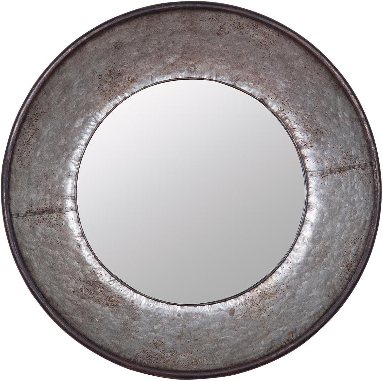 Foreside Home & Garden Foreside Galvanized Round Mirror