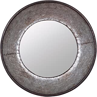 round galvanized mirror