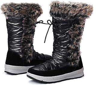 gracosy Botas Nieve Mujer de Piel Invierno Antideslizante