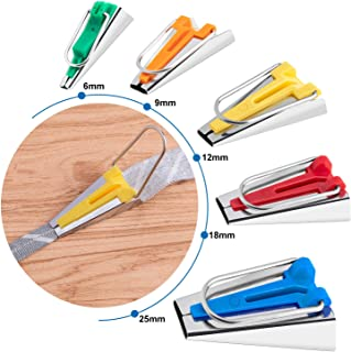 Sewing Bias Tape Makers Set of 5 Sizes, 6mm 9mm 12mm 18mm 25mm DIY Quilting Tools Kit
