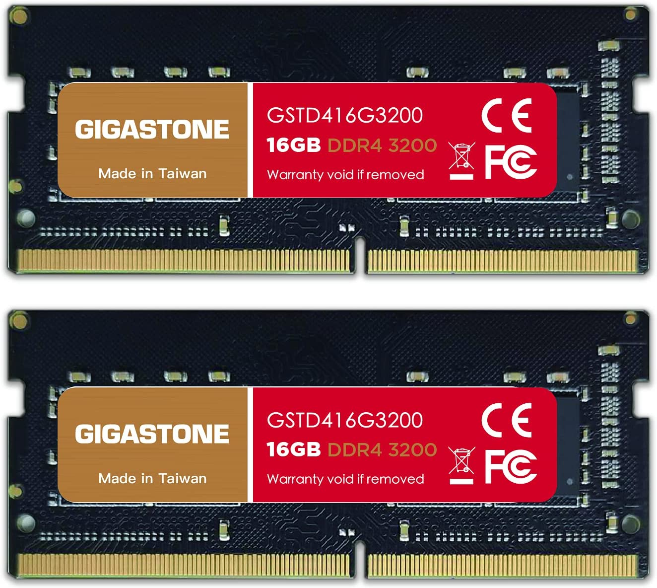 New products world's highest quality popular Gigastone DDR4 32GB 16GBx2 3200MHz 1.2V CL22 PC4-25600 Oakland Mall SODIMM