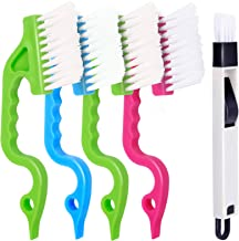 5 PCS Hand-held Groove Gap Cleaning Tools, FANDAMEI 4PCS Window Door Sliding Track Cleaning Brush + 1PCS Dustpan Cleaning ...