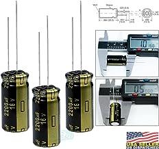 Panasonic FM 2200uf 16V, Low-ESR, Electrolytic Capacitor, Radial Lead, 7000 Hours @ 105C, 20% Tolerance, (12.5 x 25mm) L x Dia. (Pack of 3)