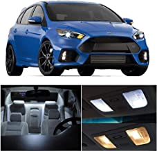 SCITOO 6Pcs White Interior LED Light Package Kit Replacement Bulbs Fits for Ford Focus 2012-2014