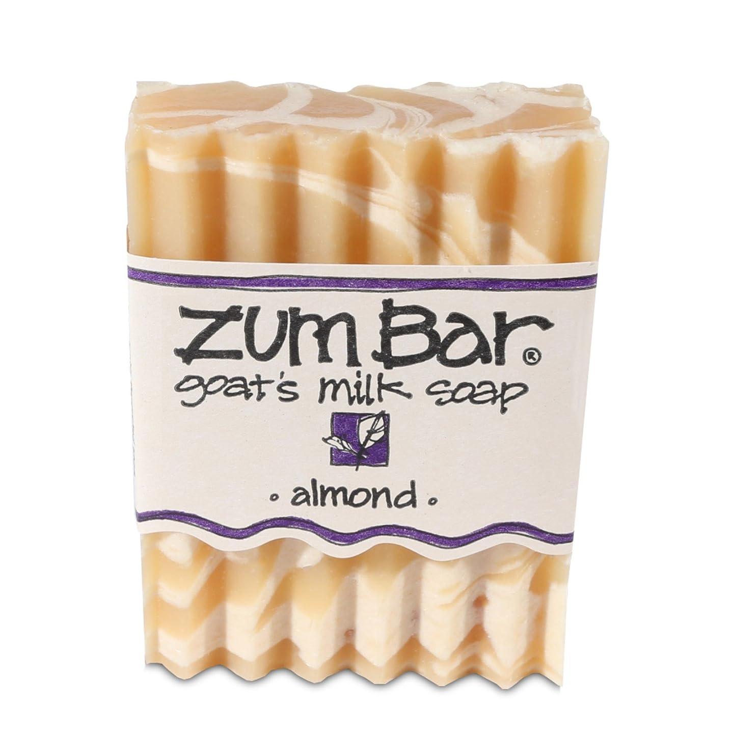 ラウズ入植者火海外直送品 Indigo Wild, Zum Bar, Goat's ミルク ソープ アーモンド , 3 Ounces (2個セット) (Almond) [並行輸入品]