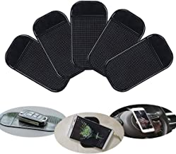 Sticky Fixate Gel Pads Multi Function Anti-Slip Magic Gel Pad for Cell Phones Holder can Stick Anything to Anywhere Car Office House Glass(5 pcs) (5 pcs Square)