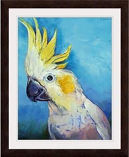 "GREATBIGCANVAS Cockatoo Espresso Framed Wall Art Print, 12""x16""x.75"