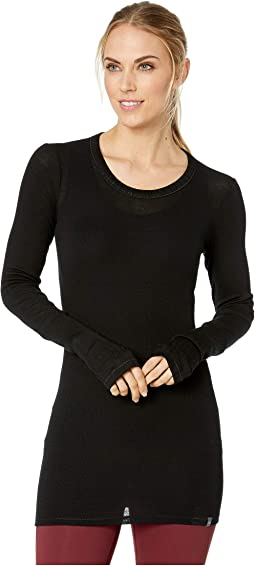 Luxe Merino Rib Long Sleeve Crewe