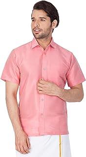 VASTRAMAY Men Cotton Silk Ethnic Shirt(MSH001)