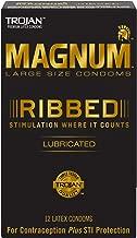 Magnum Ribbed Condoms, 12ct