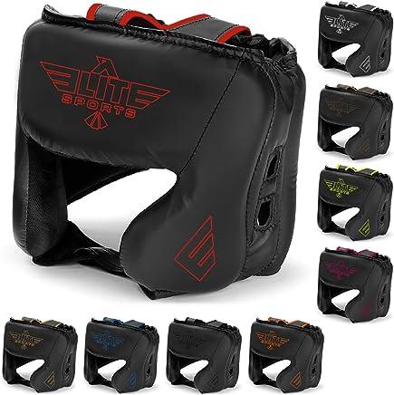 Elite Sports Boxing Head Guard, Sparring Kickboxing, MMA, Muay Thai Headgear Kick Brace Head Protection