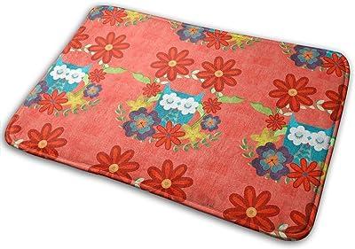 Owl Love in Amaranth Carpet Non-Slip Welcome Front Doormat Entryway Carpet Washable Outdoor Indoor Mat Room Rug 15.7 X 23.6 inch