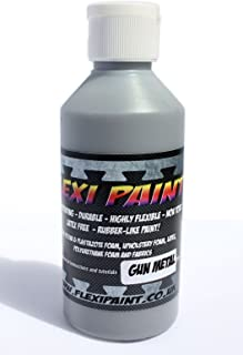 Flexi Paint - Cosplay Paint for Worbla, Eva Foam, Upholstery Foam, Latex, Fabric Safe Non-Toxic. Extremely Flexible (Gun Metal, 8.8 oz / 250 g)