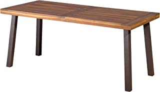 Christopher Knight Home Daria Stained Acacia Dining Table, Natural Wood