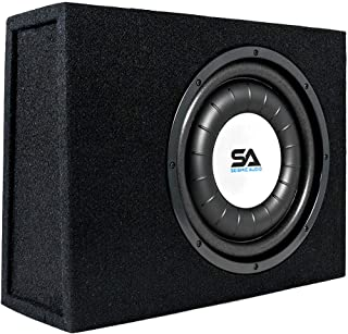 $129 » Sponsored Ad - Seismic Audio - SA-SCE12-12 Inch 600 Watt Slim Shallow Mount Car Truck Audio Subwoofer Enclosure