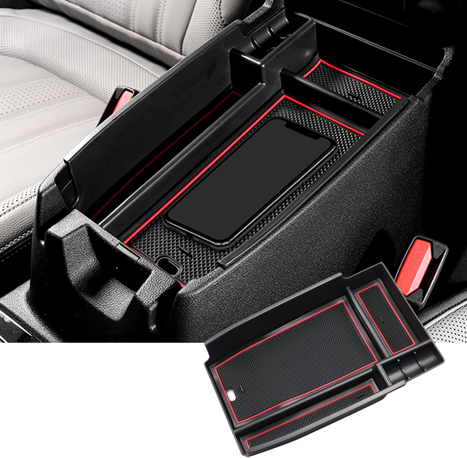 SKTU Center Console Organizer Compatible Year-end annual account Bronco Outlet ☆ Free Shipping with Ford 2021 S