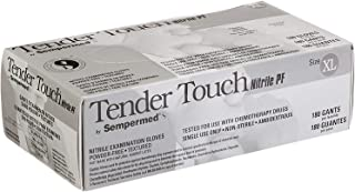 Tender Touch Purple Nitrile Exam 4 Mil Gloves- Powder Free, Latex Free, Non Sterile, Food Safe. Size XL (Box of 180)