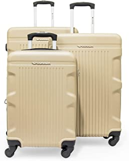 Zygara by Sonada - Hard Case Spinner Luggage set of 3 Pieces, Champagne