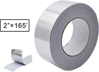 Aluminum Foil Tape, Aluminum Air Duct Tape, Professional Adhesive Aluminum Foil Tape for HVAC, Pipe, 2 inch x 55 yard(3.9mil), 1-Roll (Multi Pack Option Inside)