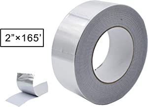 Aluminum Foil Tape, Aluminum Air Duct Tape, Professional Adhesive Aluminum Foil Tape for HVAC, Pipe, 2 inch x 55 Yard(3.9mil), 1-Roll