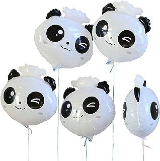 """SummitLink Pack of 5 Panda Head 18"""" PE Helium Balloon"""
