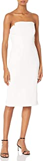 Women's Strapless Column Midi Dress