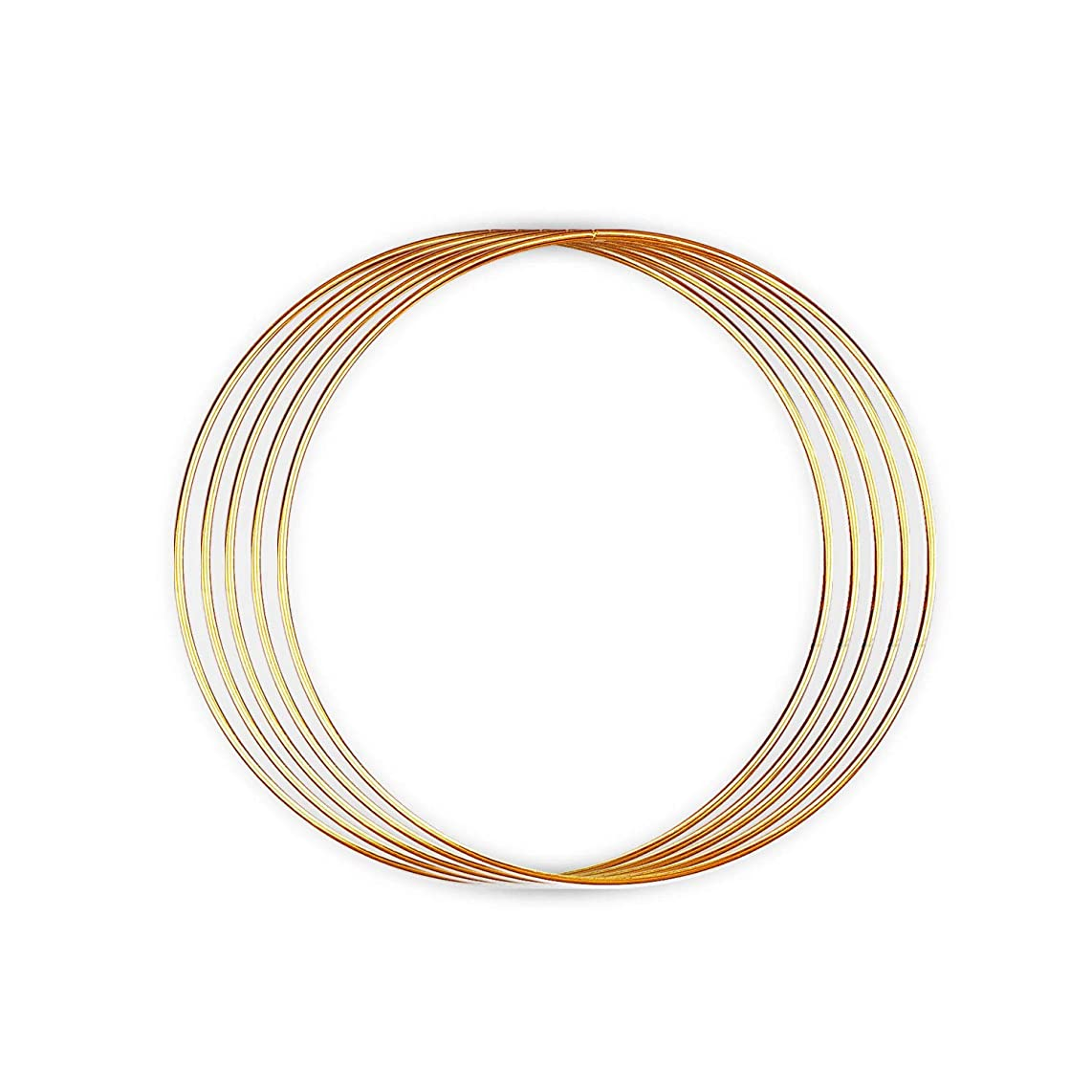 Metal Rings - for Dream Catcher, Macrame Supplies, Ring Napkin Holders. Gold Hoops by Better Crafts. (5, 9-Inch)