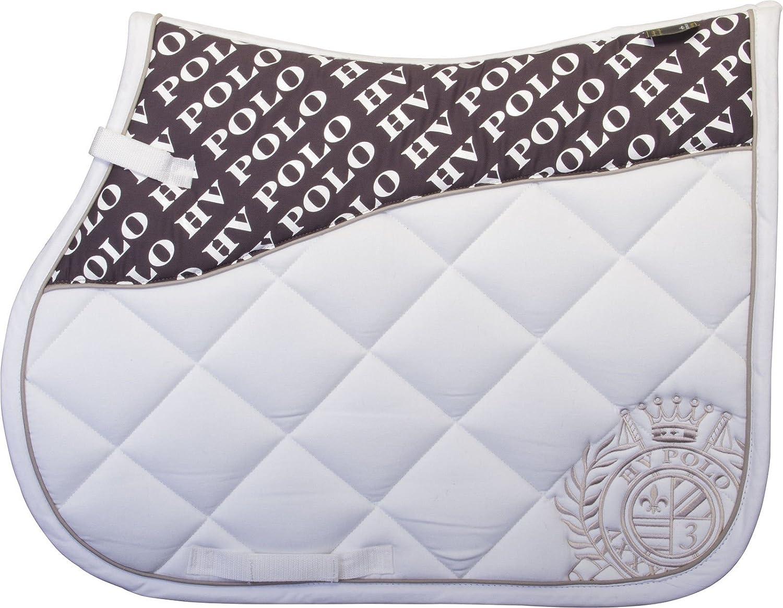 HV Polo Saddle GP Mare Diagonal Stitch Anti Slip Silicone Print Embroidery