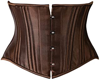 FeelinGirl dam 26 stålstavar corsage bröst satin lace up midja cincher korsett top Shaper korsage