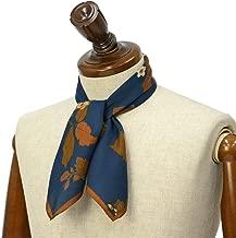 [Fumagalli 【フマガリ/フマガッリ】]スカーフ/ネッカチーフ GARDA 610 4 コットン シルク 花柄 ネイビー