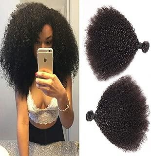 BODHI TREE Afro Kinkys Curly Hair Bundles Unprocessed Virgin Hair Kinky Curly Human Hair Afro Kinkys Bulk Human Hair for Black Women Natural Color(24 24 24)