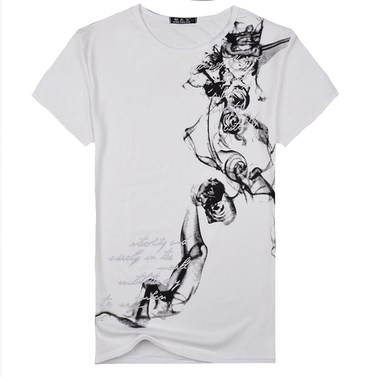 騙す喪事故SmaidsxSmile(スマイズ スマイル) Tシャツ トップス カットソー インナー 半袖 刺青 柄 デザイン 丸首 英字 メンズ