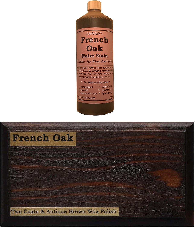 Tinte para madera a base de agua de Littlefairs, respetuoso con el medio ambiente, Palisandro claro, 500 ml