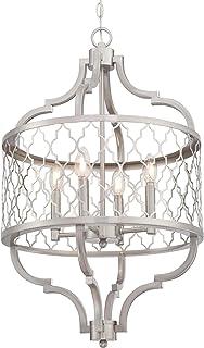 Westinghouse Lighting 6368500 Sahara Four-Light Indoor Chandelier, Brushed Nickel Finish