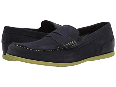 Rockport Malcom Penny (New Dress Blues Suede) Men