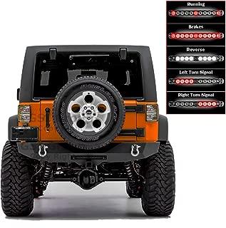 GSI Rear Bumper with Smoke Lens 3rd Brake LED Light bar, 2