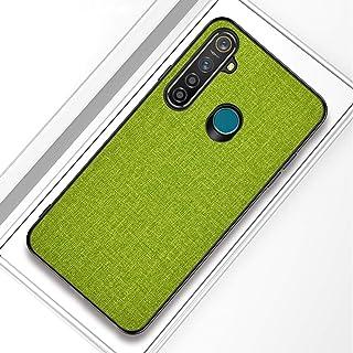 OPPO REALME 5 PRO耐衝撃布テクスチャPC + TPU保護ケース(ブラック) HDJ (Color : Green)