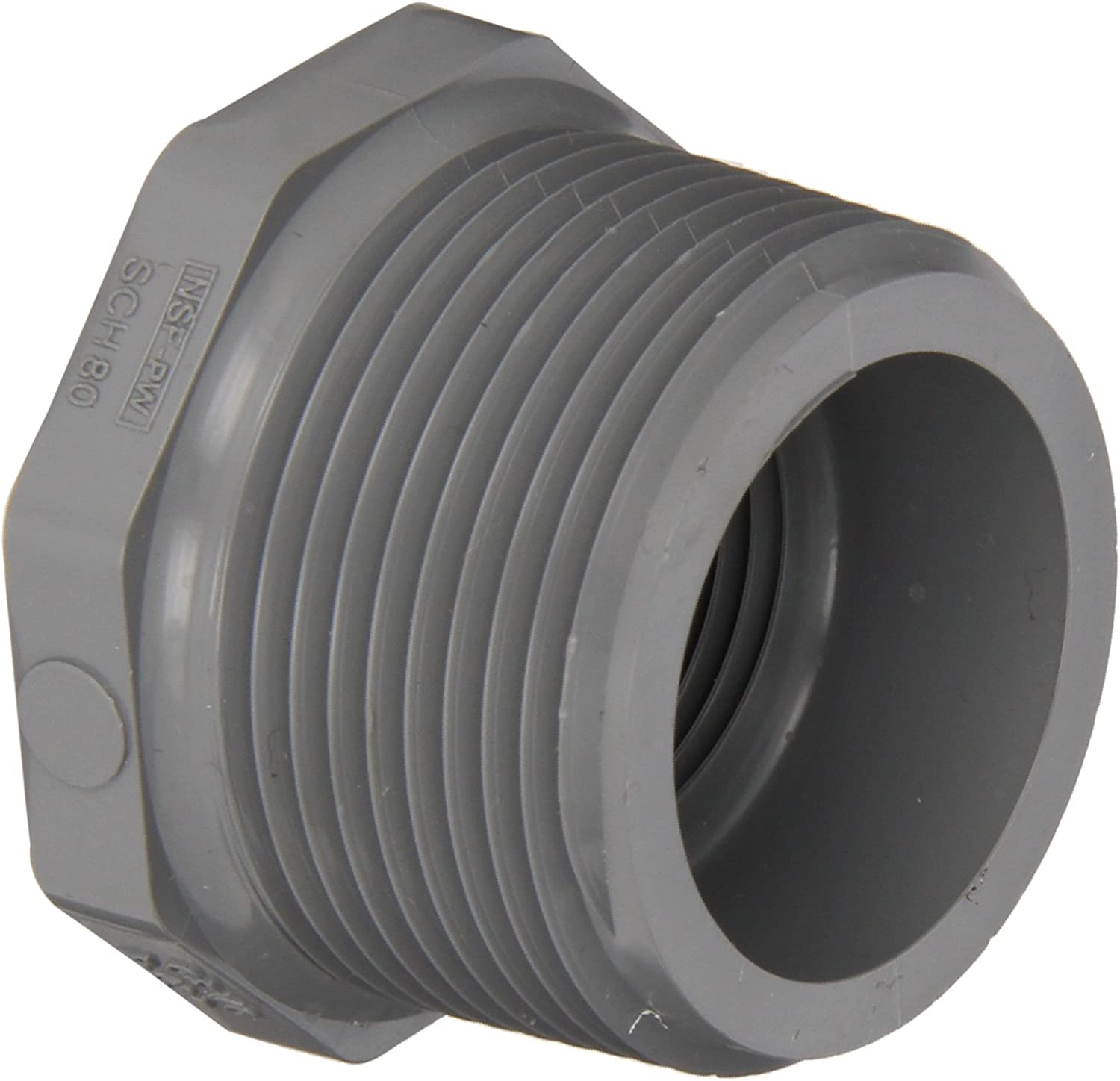 (10cm x 7.6cm , 1)  Spears 839C Series CPVC Pipe Fitting, Bushing, Schedule 80, 10cm NPT Male x 7.6cm NPT Female