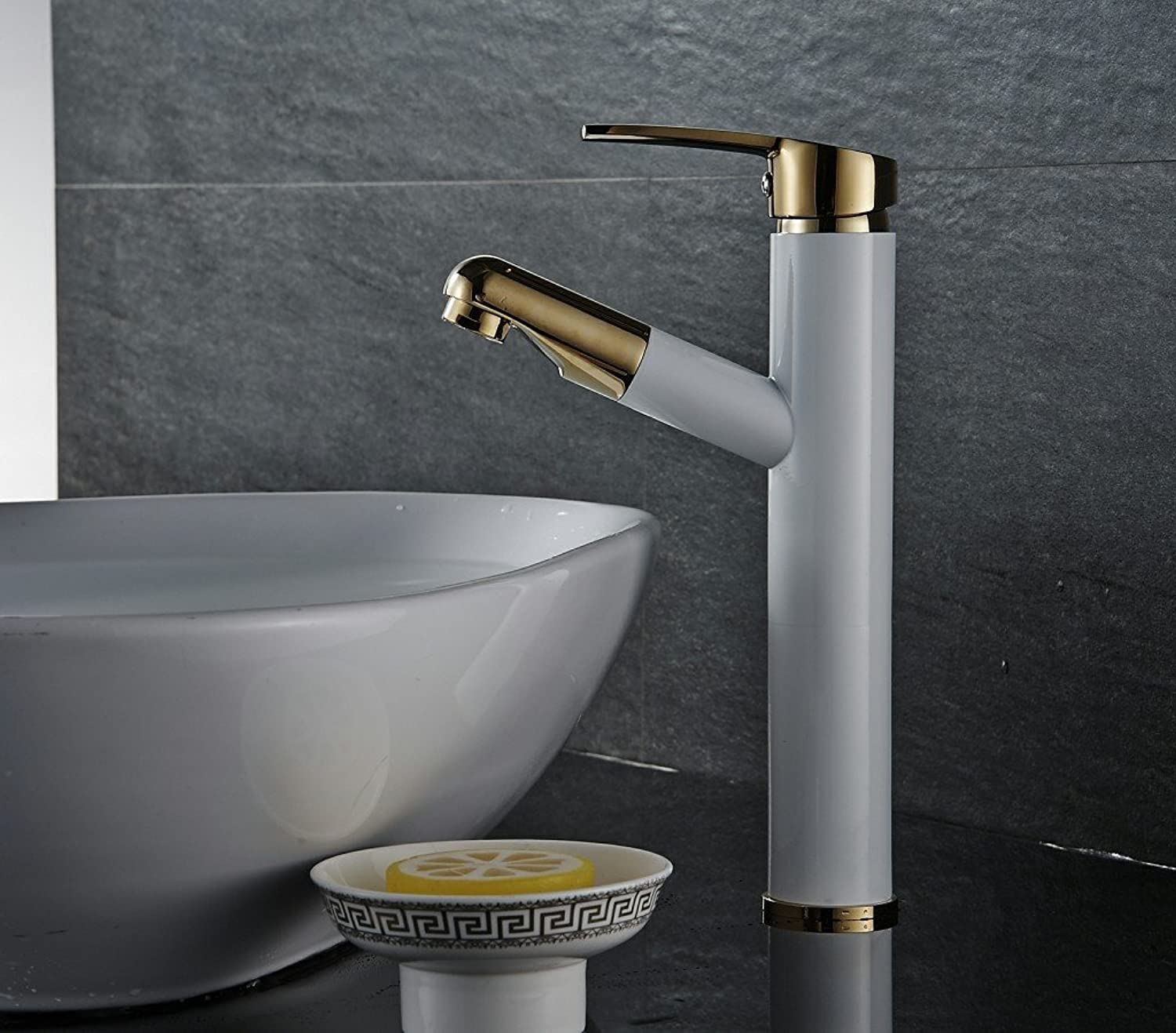 Jsnxzx All-in-One Full Copper Pull-Down Continental Plus High Cold Water Faucet