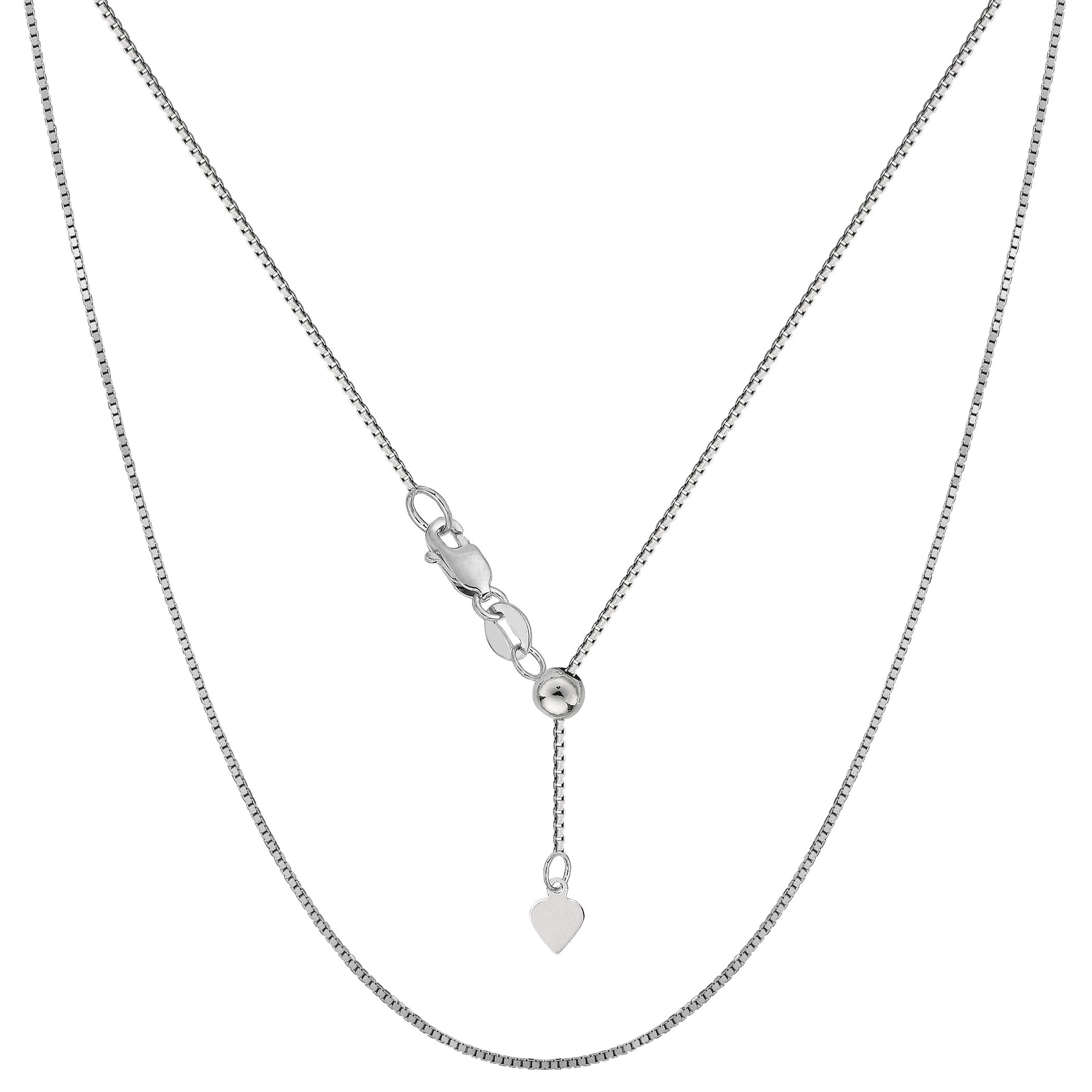 Spring Ring Clasp 925 Sterling Silver Italian 1.5mm Magic Round Wheat Chain Crafted Necklace Thin Lightweight Strong 14 Inches